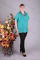 Блуза 2907-459/3 шифон больших размеров оптом