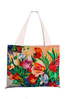 Текстильная сумка XYZ Аквария Цветы разноцветная