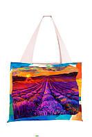 Текстильная сумка XYZ Аквария Закат Лавандовое поле