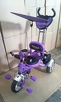 Велосипед 3-х колесный Mars Trike надувные колеса (фиолетовый)