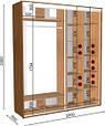 Шкаф купе двухдверный  200х60х240 (ш*г*в) , фото 2