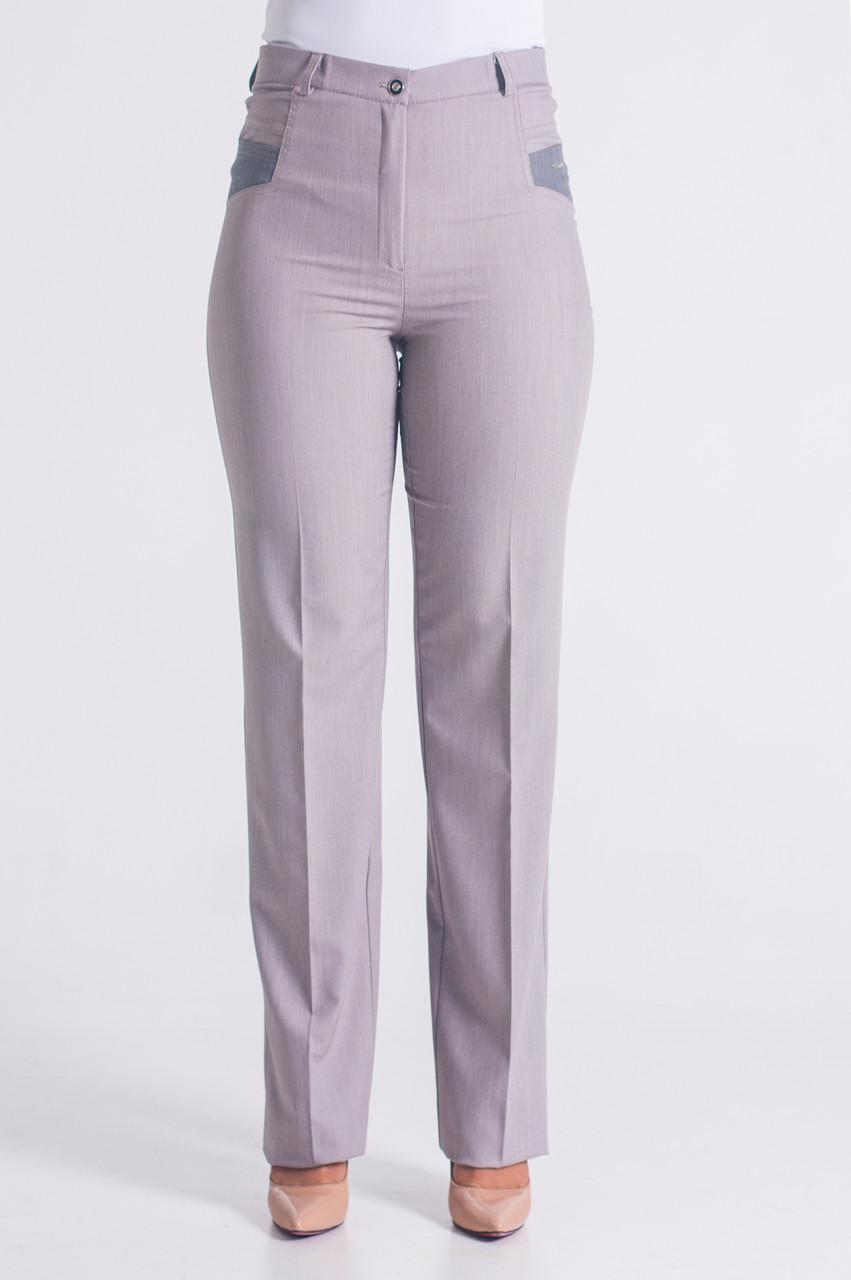 ca8649d46cb3 Светлые женские брюки больших размеров.