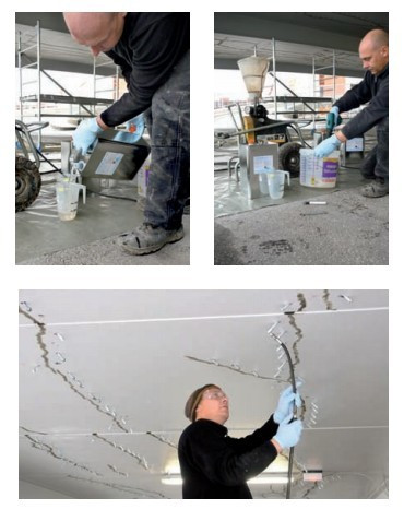 Гидроизоляция трещин плит перекрытия