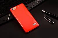 Силиконовый чехол Duotone для Huawei Honor 4C красный