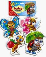 Беби пазлы: 1106-06 (Кумедні комахи) (Vladi Toys) 413 Ч