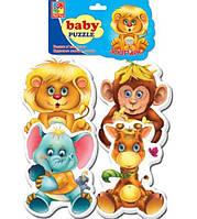 Беби пазлы: 1106-10 (Зоопарк) (Vladi Toys) 53491 Ч