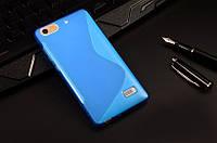 Силиконовый чехол Duotone для Huawei Honor 4C голубой