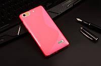 Силиконовый чехол Duotone для Huawei Honor 4C розовый