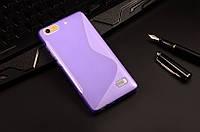 Силиконовый чехол Duotone для Huawei Honor 4C фиолетовый