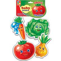 Беби пазл мягкий для малышей Овощи  (4шт. в наборе) Vladi Toys VT 1106-03 .