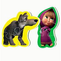 Беби пазл мягкий для малышей Мини Маша и медведь (2 шт в наборе) Vladi Toys VT 1107-02