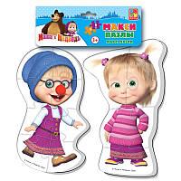 Макси беби пазл мягкий для малышей Маша и Медведь (2 шт. в наборе) Vladi Toys VT 1108-03