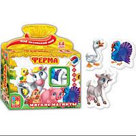 Развивающая игра, набор тематических магнитов Мой маленький мир Ферма Vladi Toys VT 3101-03