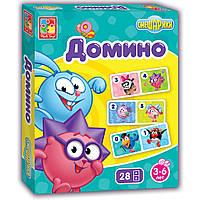 Развивающая настольная игра со Смешариками Домино Vladi Toys VT 2105-01