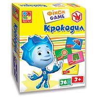 Развивающая настольная игра Фіксі Ігри Крокодил Vladi Toys VT 2107-04 (укр)