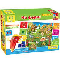 Развивающая игра На фермі Vladi Toys VT 1603-01 (укр) , фото 1