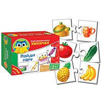 Развивающая игра Клуб дошкольников Умнички Мини-игра Найди пару Vladi Toys VT 1309-03