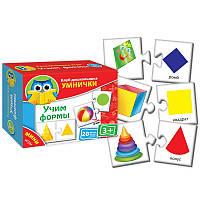 Развивающая игра Клуб дошкольников Умнички Мини-игра Учим формы Vladi Toys VT 1309-01