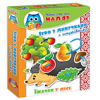 Первые игры для Малышей Малятко Шнурівка-липучки Їжачок  Vladi Toys VT 1307-03 (укр)