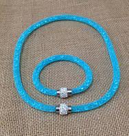 """Набор Stardust  """"Голубой"""" Колье+браслет, фото 1"""