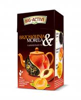 Чай черный  Big-Active с персиком абрикосом, 80 гр