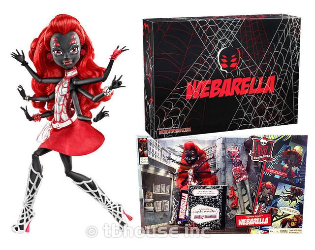 Кукла Monster High Вайдона Спайдер (Вебарелла-Webarella) из серии Супергерои Монстр Хай