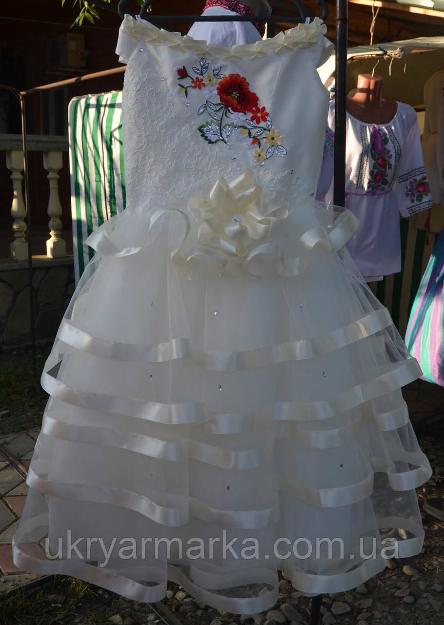 """Плаття для дівчинки """"Святкове"""" кремове"""