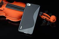 Силиконовый чехол Duotone для Huawei Honor 6 чёрный
