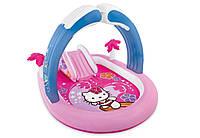 57137 Игровой центр Hello Kitty,с горк,надувн арка,подстилка,211-163-130см