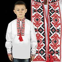 Детская вышиванка на мальчика белая 1-12 лет