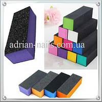 Трехсторонний шлифовочный блок,  разноцветный