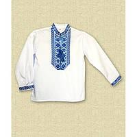 Вышиванка на мальчика с длинным рукавов белая р 86-152