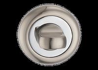 Накладка на замок под WC LINDE Т3а SN/CP матовый никель/полированный хром