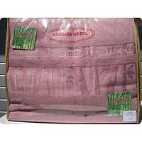 Бамбуковая махровая простынь 200x220 Exclusive bamboo lilac