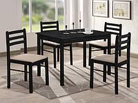 Комплект деревянной мебели Фиеста. Стол и 4 стула цвет венге