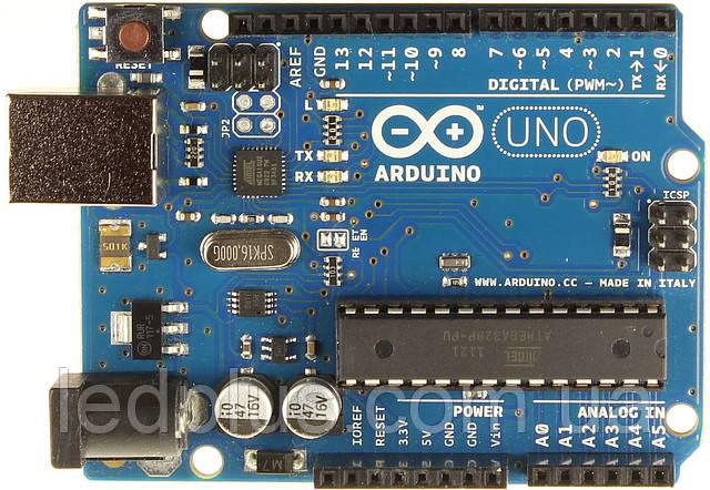Плата Arduino Uno R3 + кабель, фото 1