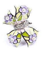 Кольцо серебряное с ювелирной эмалью