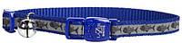 Coastal Lazer свето-отражающий ошейник для котов, косточки голубой | 1 см.Х30 см