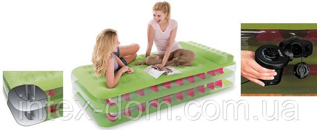 Надувная кровать Intex Take Along Bed  67716 ИНТЕКС(191 х 99 х 47 см )киев