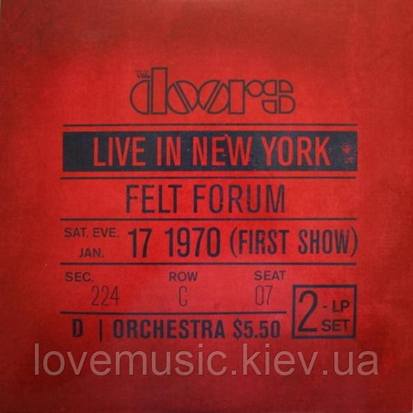 Вінілова платівка DOORS Live in New York (1970) Vinyl (LP Record)