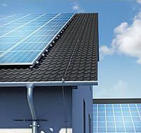 Молниезащита и защита от перенапряжения солнечных батарей  для коттеджа.
