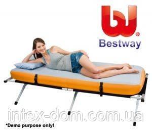Набор односпальной раскладушки туристический Bestway 67383 (198х78х42 см. ) киев