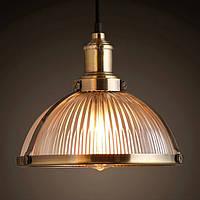 Светильник потолочный [ Loft Classic glass ]  antique brass