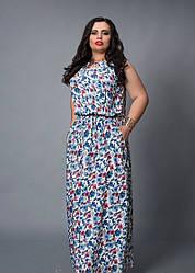 Модное длинное летнее женское штапельное платье