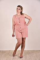 Женский модный летний комбинезон больших размеров (рр 42-74)