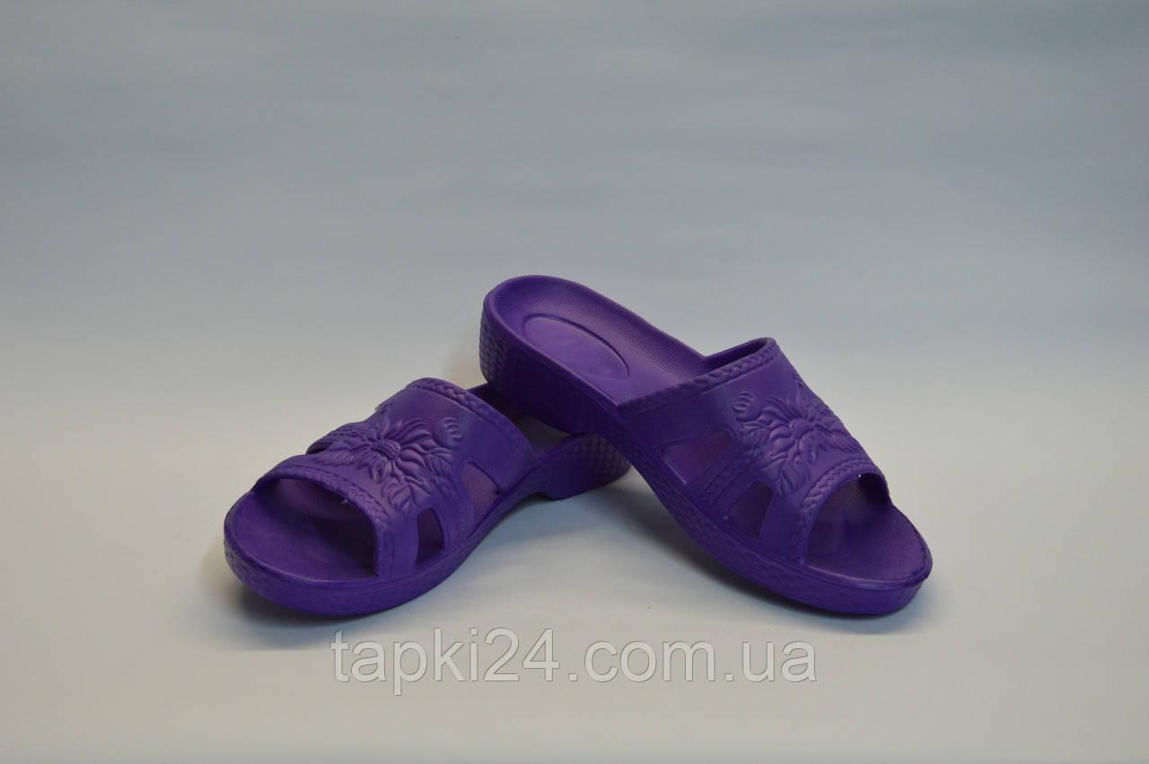 Шлепанцы женские Украина оптом фиолетовые ПЖ - 21 пена, фото 1