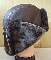 Мужская зимняя шапка-ушанка №2