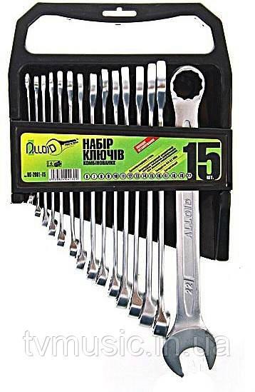 Набор ключей комбинированных Alloid 15 предметов (НК-2005-15М)