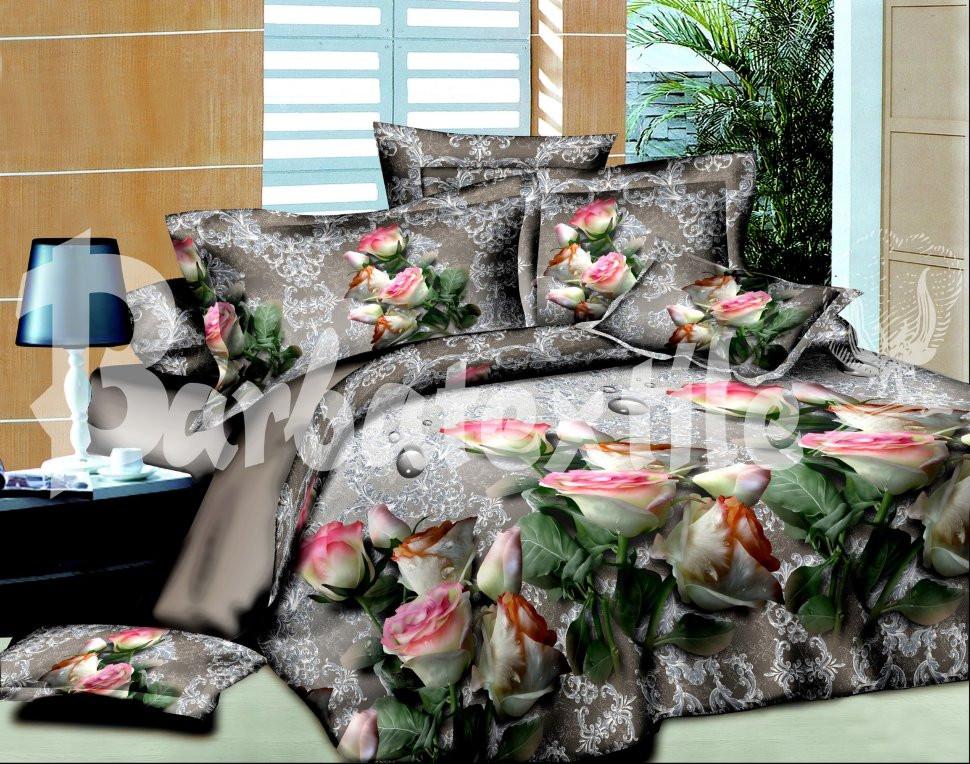 Семейный набор хлопкового постельного белья из Ранфорса №131 Черешенка™