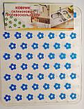 Килимок силіконовий, прозорий з квітами, в мийку, 265мм*315мм., фото 2
